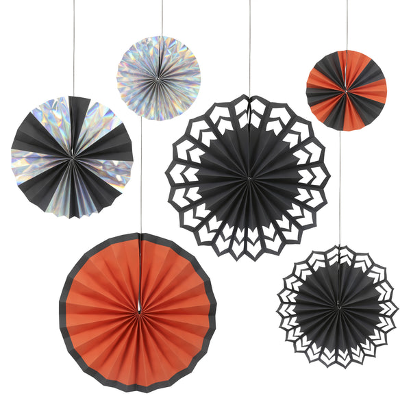 Halloween 6 Pinwheel Decorations