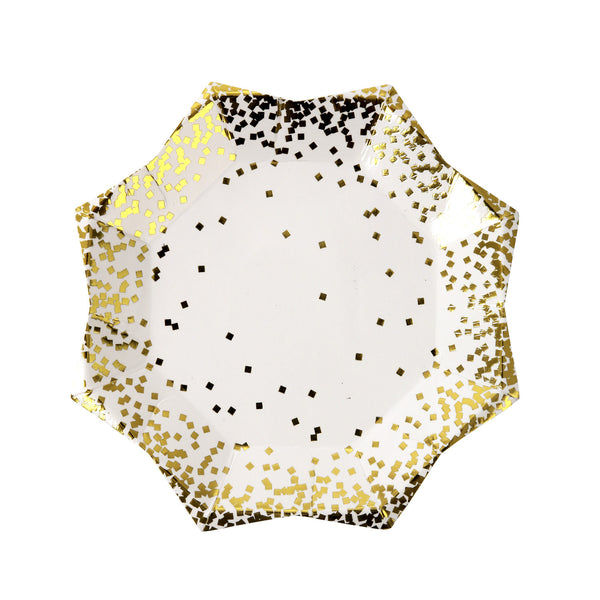 Gold Confetti Small 8 Plates