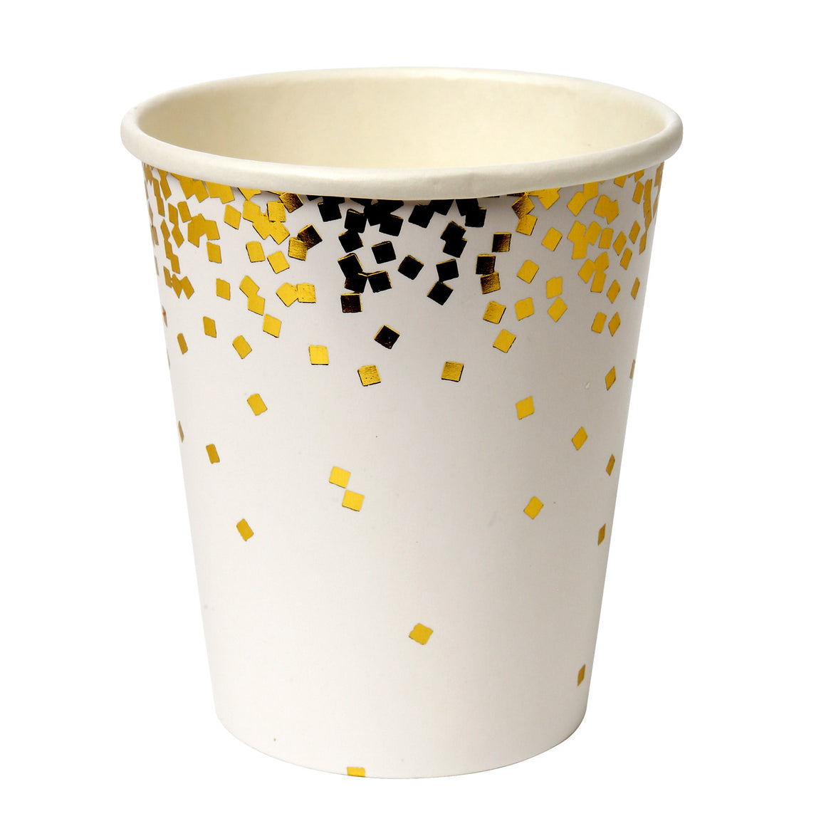 Gold Confetti 8 Party Cups