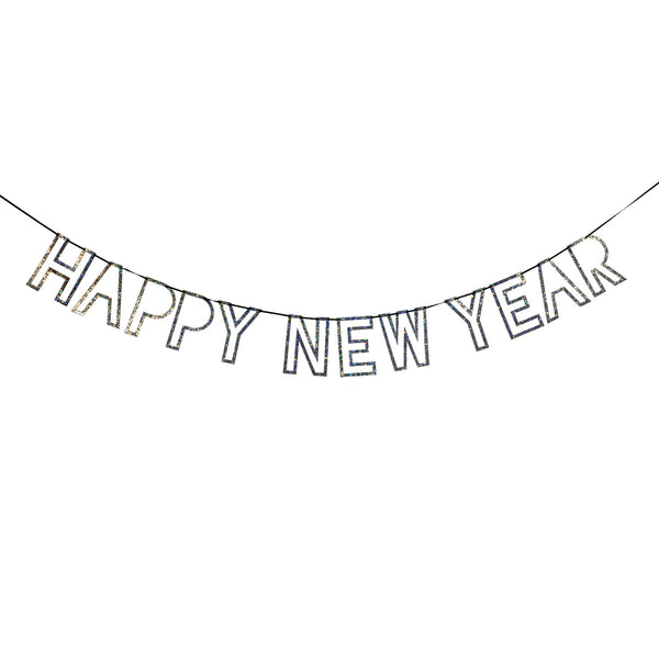 Happy New Year Silver Garland