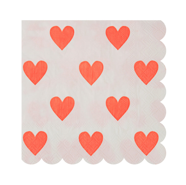 Pink Hearts Pattern Small 20 Napkins