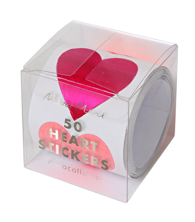 Heart 50 Stickers on a Roll