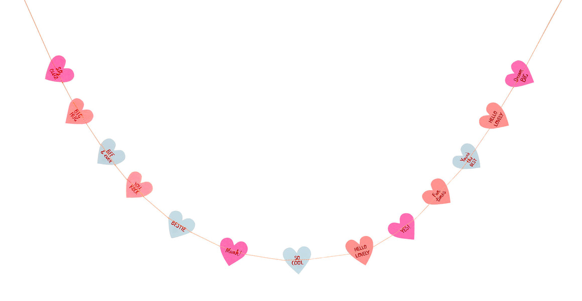 Love Hearts Mini Garland