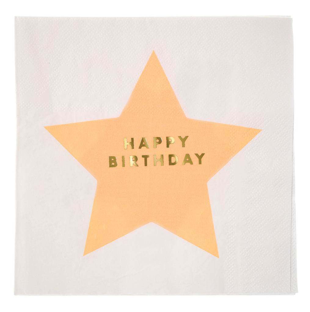Jazzy Star Happy Birthday Large 16 Napkins