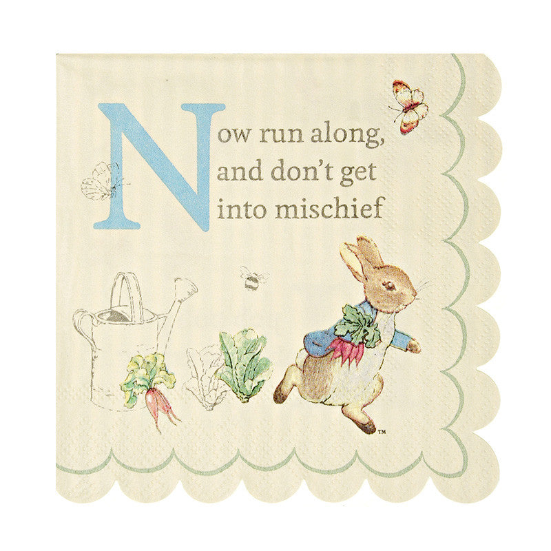 Peter Rabbit Small 20 Napkins