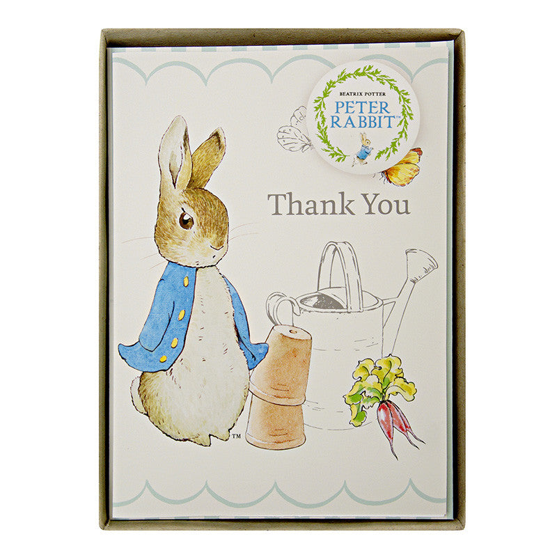 Peter Rabbit 8 Thank You Cards