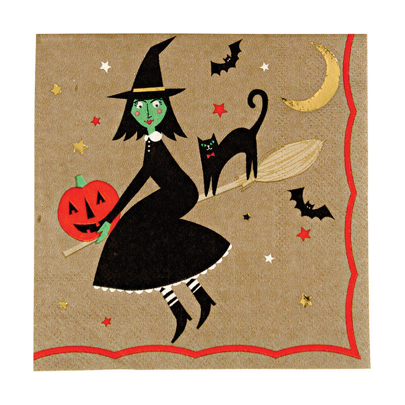 Something Wicked 16 Small Napkins