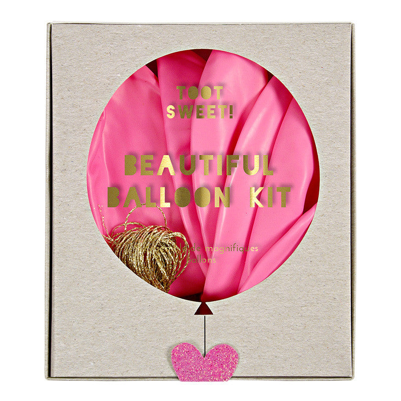 Toot Sweet Beautiful 8 Balloons Kit Pink