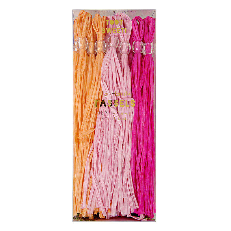 Pink 12 Party Tassels