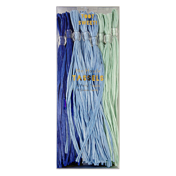 Blue 12 Party Tassels