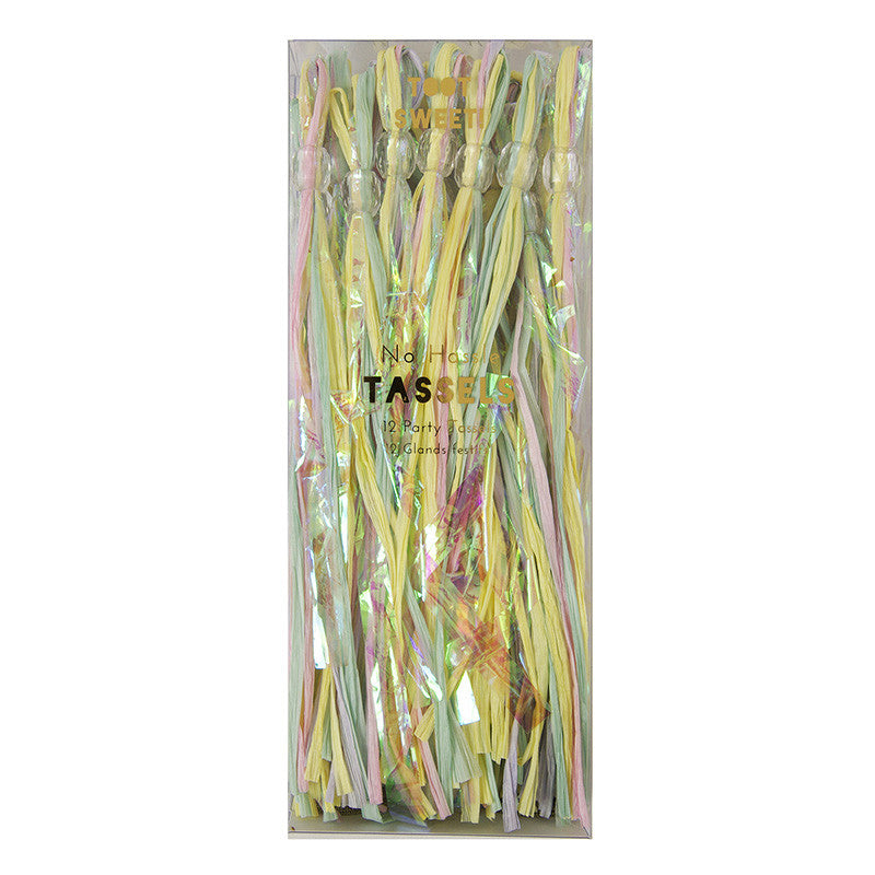Pastel 12 Party Tassels