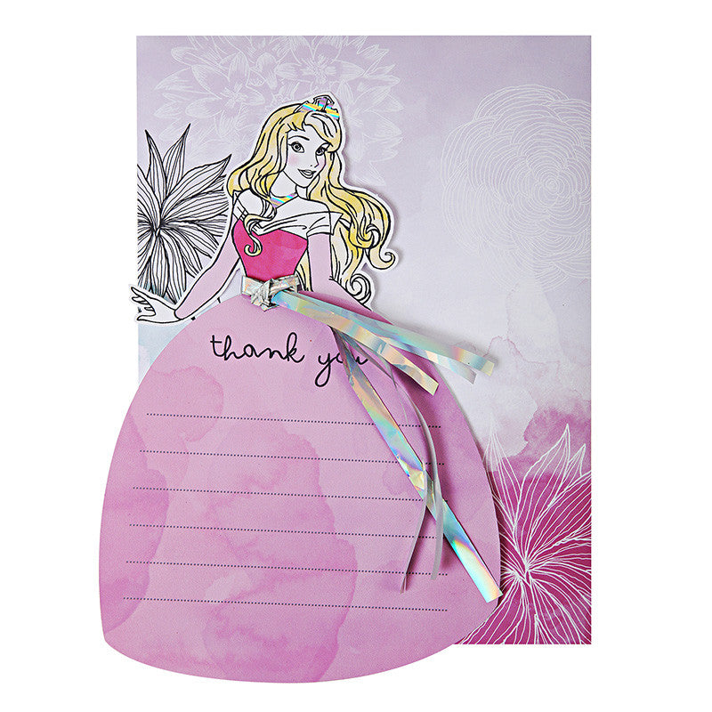 Disney Princess 8 Thank You Notes