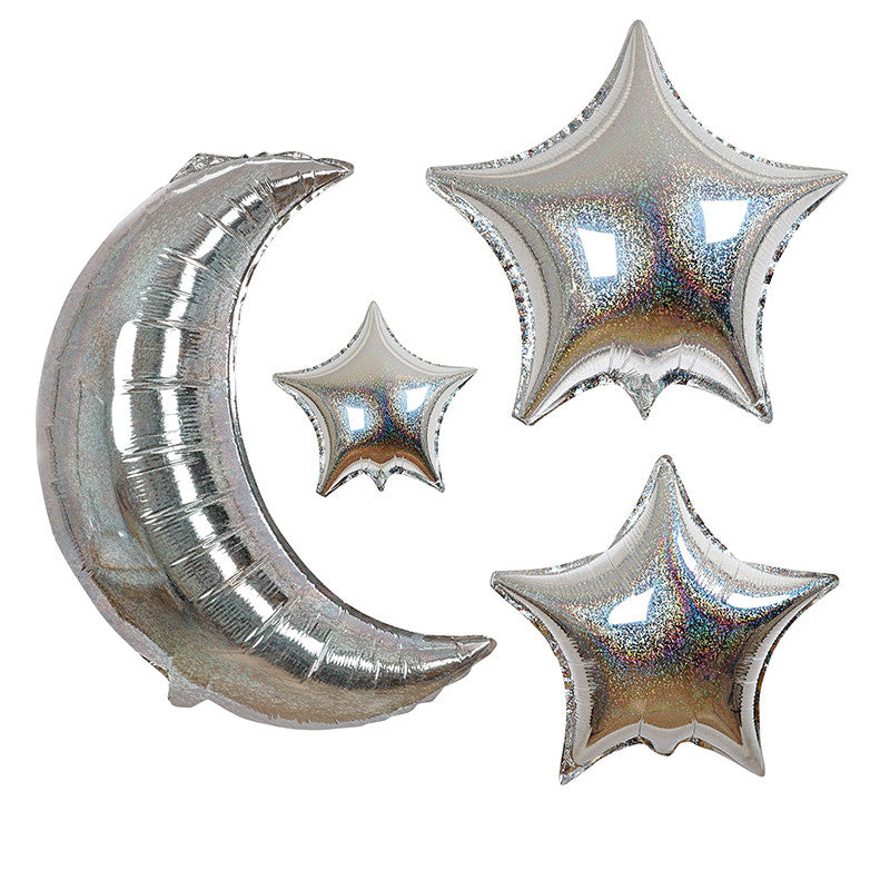 Moon and Star 6 Balloons