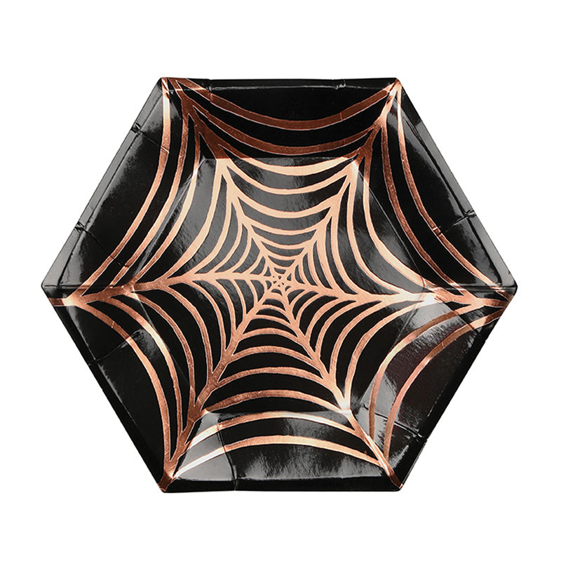 Small Cobweb 8 Plates Halloween