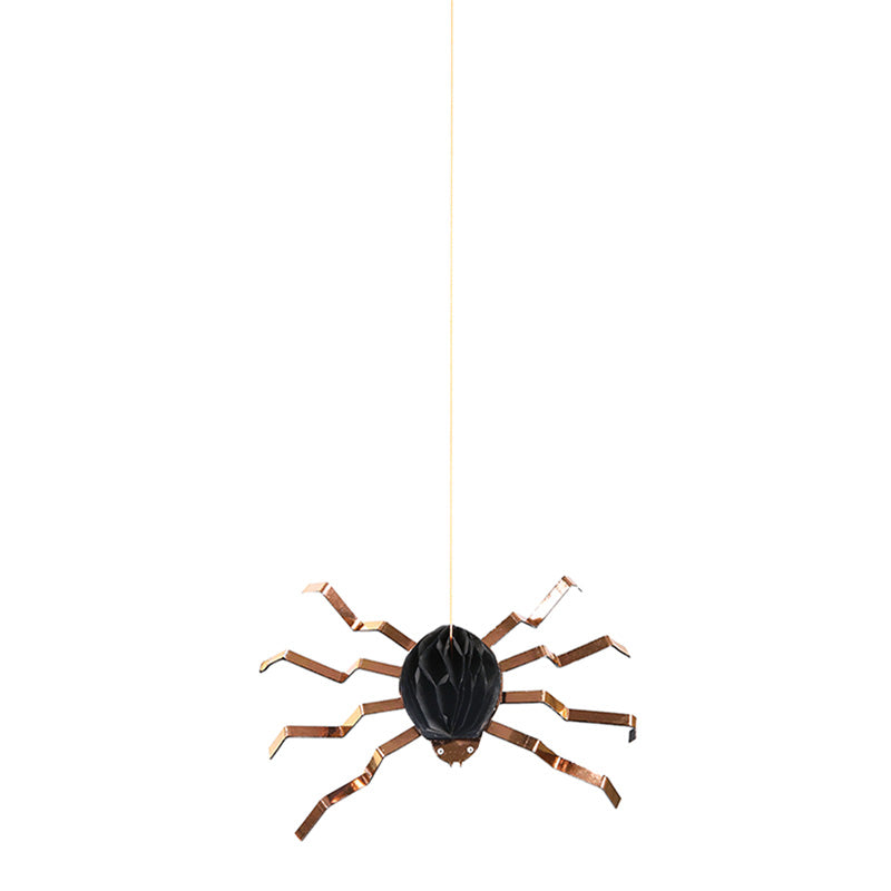 Honeycomb 6 Spiders Decorations Halloween