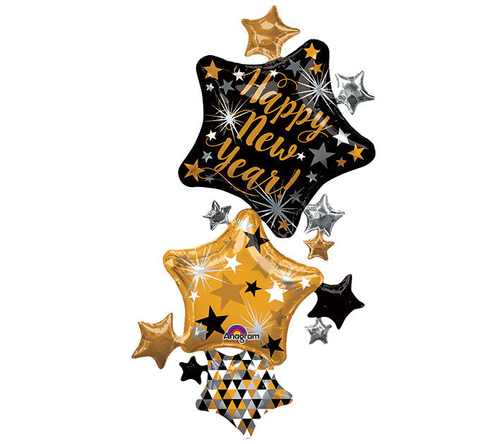 "67"" PKG HAPPY NEW YEAR STARS SET"