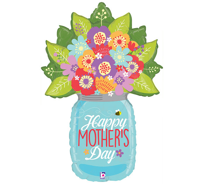 "Mother's Day Mason Jar 40"" Foil Balloon"