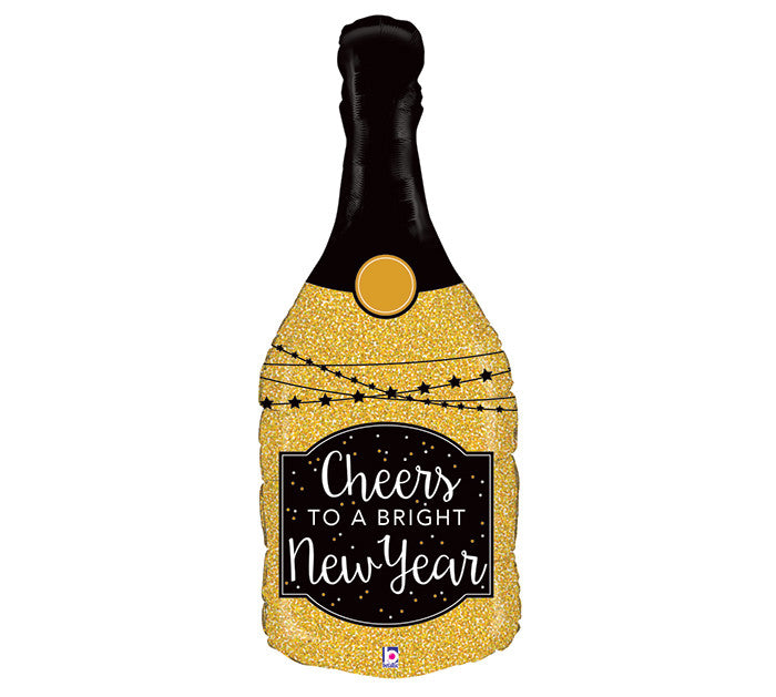 "36"" Happy NEW YEAR Champagne Bottle"