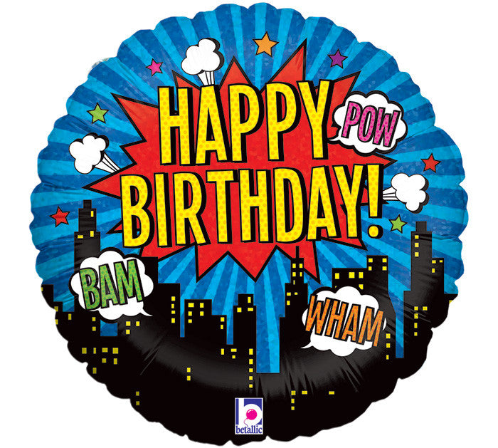 "Superhero Happy Birthday 18"" Balloon"