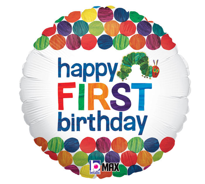 "18"" Happy 1st Birthday Hungry Caterpillar Balloon"