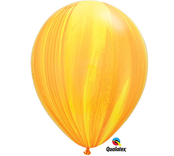 "Marble Yellow & Orange 11"" Balloon"