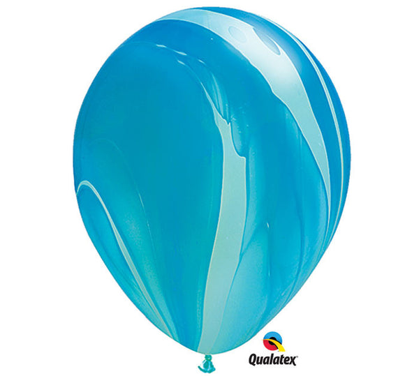"Marble Blue & Light Blue 11"" Balloon"