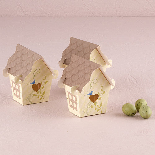 Sweet Bird House 12 Favor Boxes