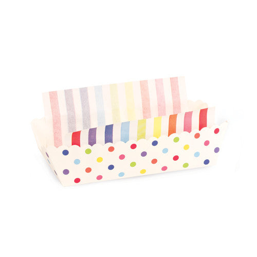 8 Baking Trays - Rainbow Dots
