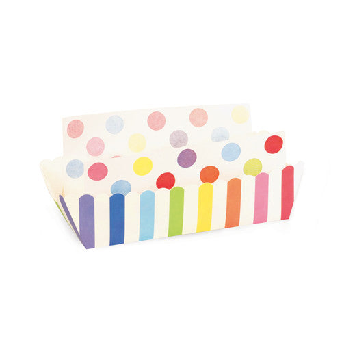 8 Baking Trays - Rainbow Stripes