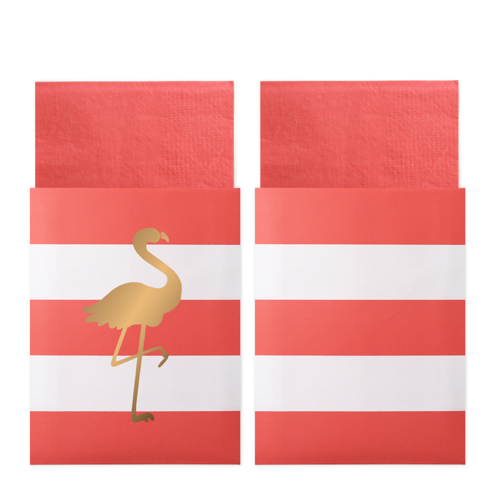 Preppy Flamingo 20 Napkins in Bags