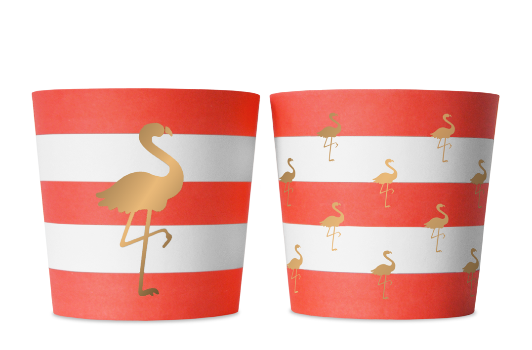 Preppy Flamingo 6 Food Cups