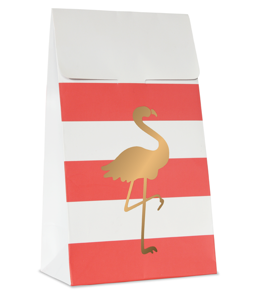 Preppy Flamingo 10 Treat Bags