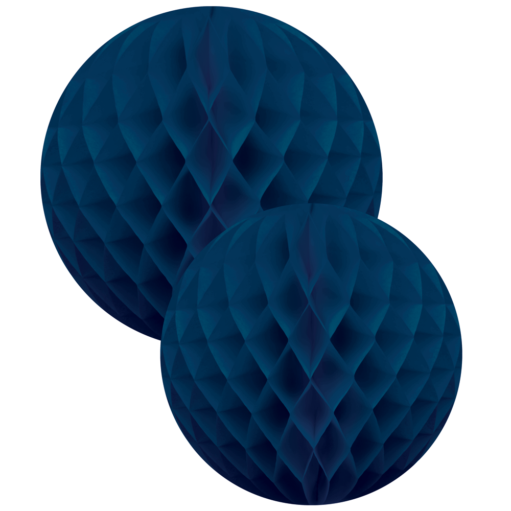 Navy 2 Honeycomb Ball Set