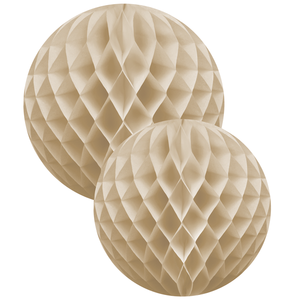 Beige 2 Honeycomb Ball Set