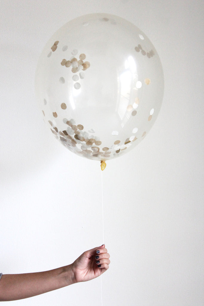 Confetti Balloon - Golden