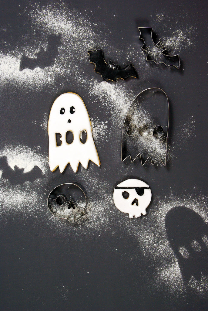 halloween, cookie cutters, ghost, bat, skeleton