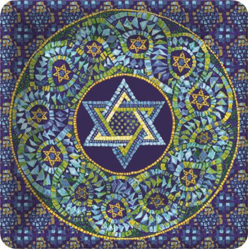 Mosaic Star of David - 8 Dessert Plates