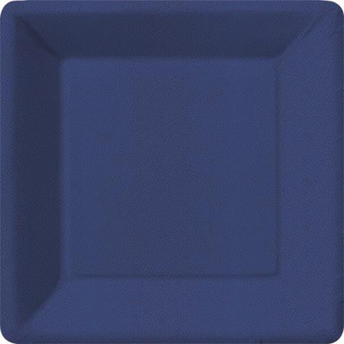 Navy Square Plates