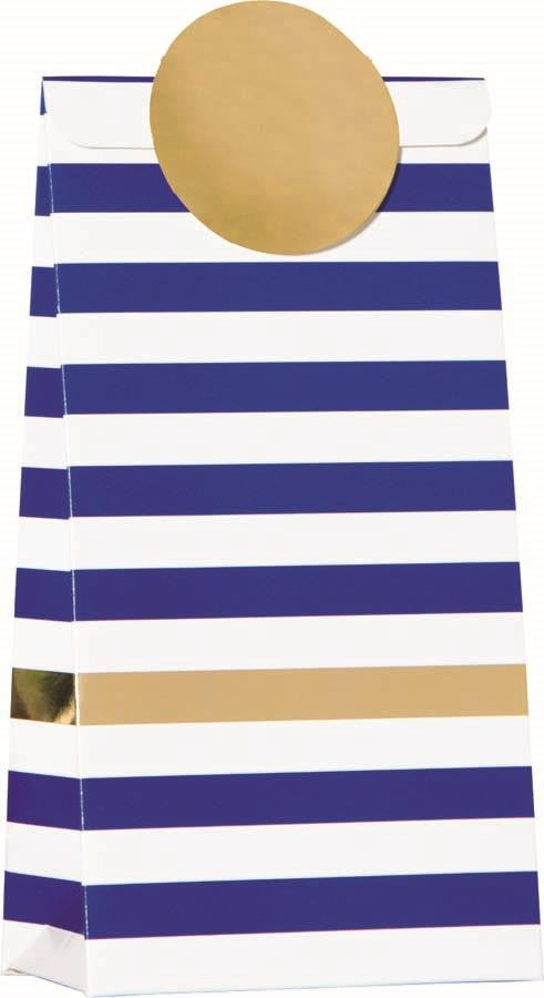 Navy Stripe 6 Treat Bags