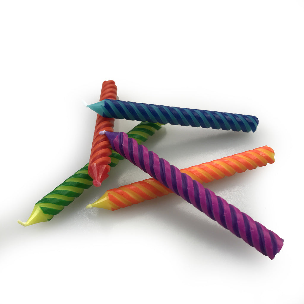Twist Rainbow 10 Birthday Candles