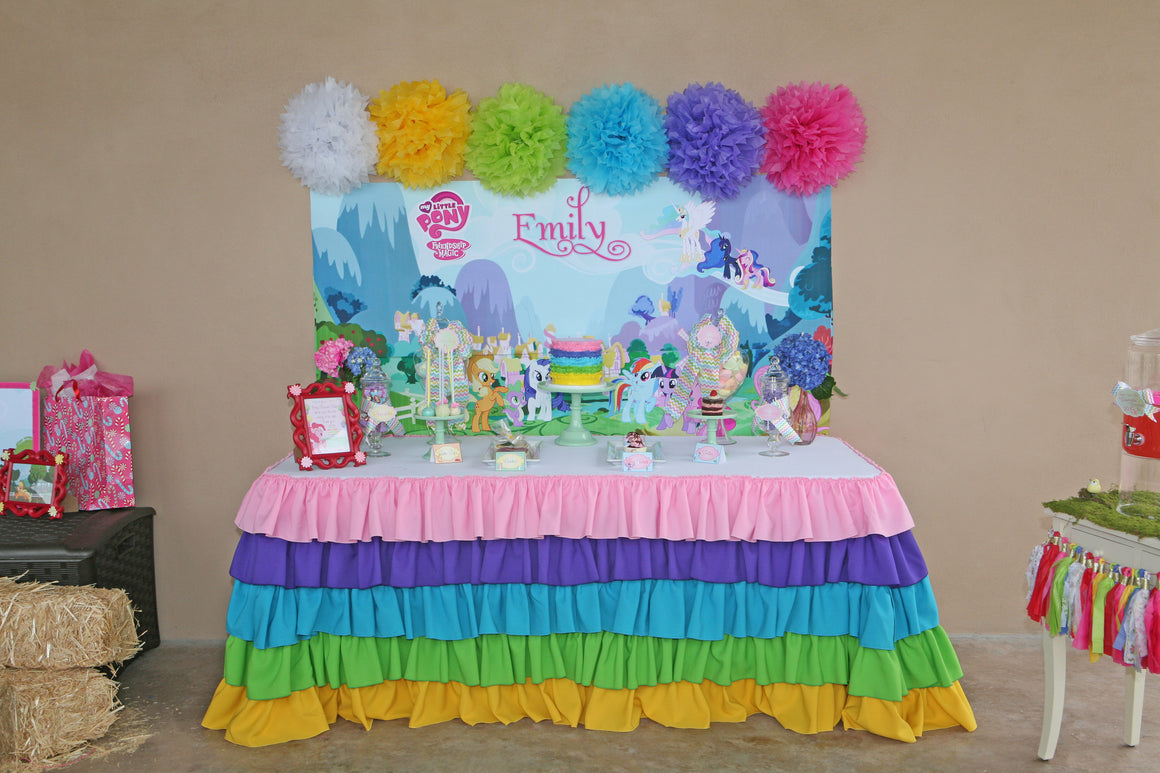 Rainbow Ruffles Tablecloth