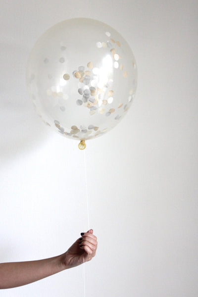 Confetti Balloon - Natural