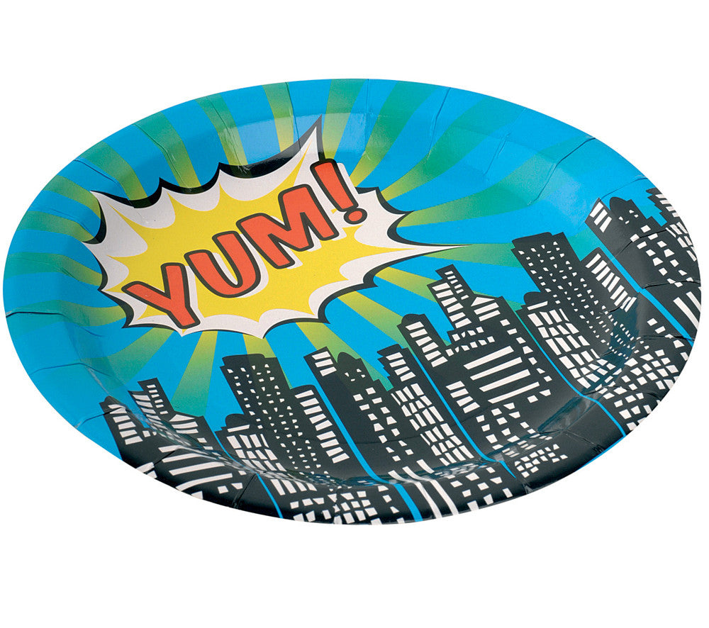 Pop Art Superhero Party - 8 Paper Plates