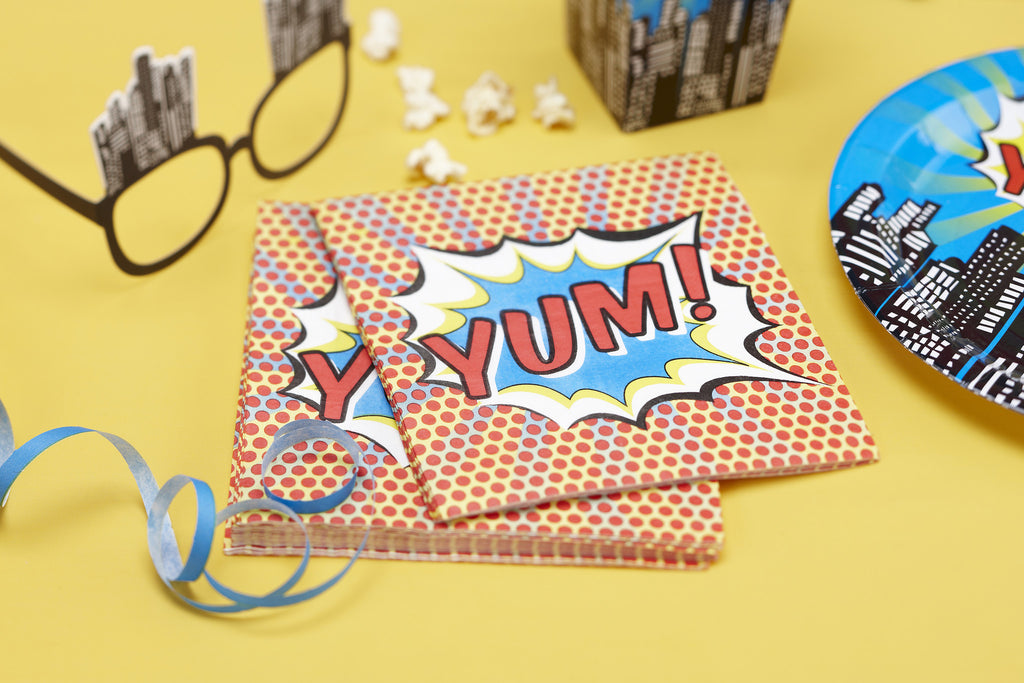 Pop Art Superhero Party - 20 Paper Napkins