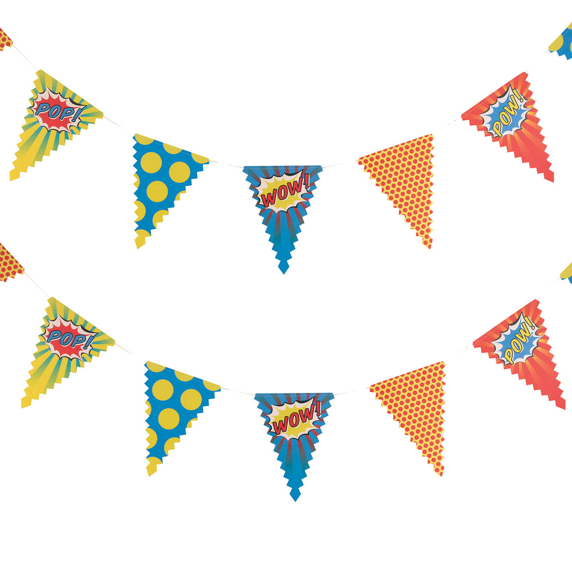 Pop Art Superhero Party - Happy Birthday Bunting