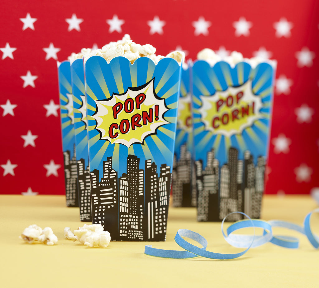 Pop Art Superhero Party - 8 Popcorn Boxes