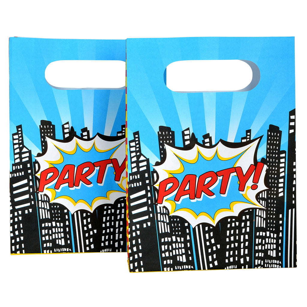 Pop Art Superhero - Party Loot 8 Paper Bags