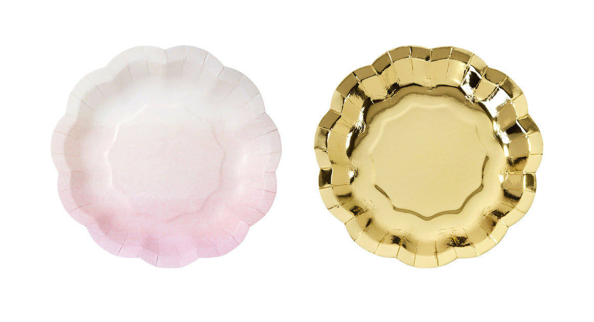 Pink 12 Paper Plates
