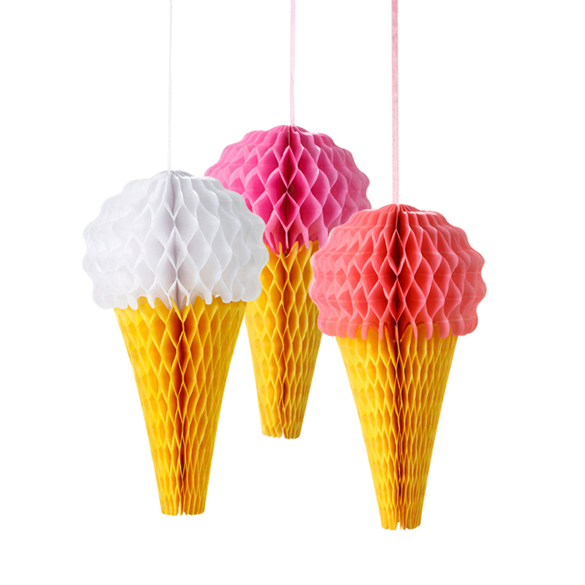 Ice Cream Cone 3 Honeycombs