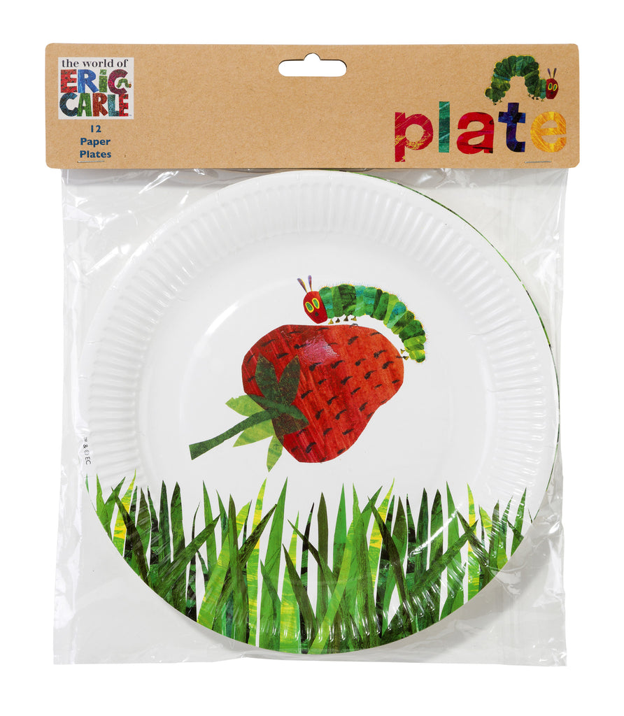 The Very Hungry Caterpillar 12 Paper Plates